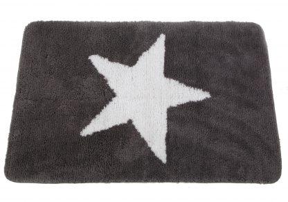Badematte Stern Grau 2