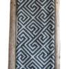 Acryl Strick Decke mit Triangle mit Fransen (2)