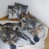 Decke und Kissen Wolf. 3